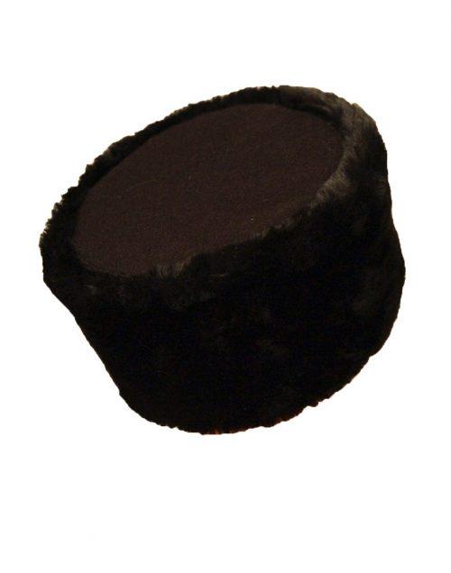 Шапка-кубанка (натуральный мех) черная