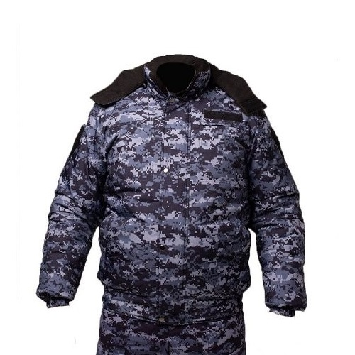 Куртка зимняя РОСГВАРДИЯ укороченная цв. синяя точка