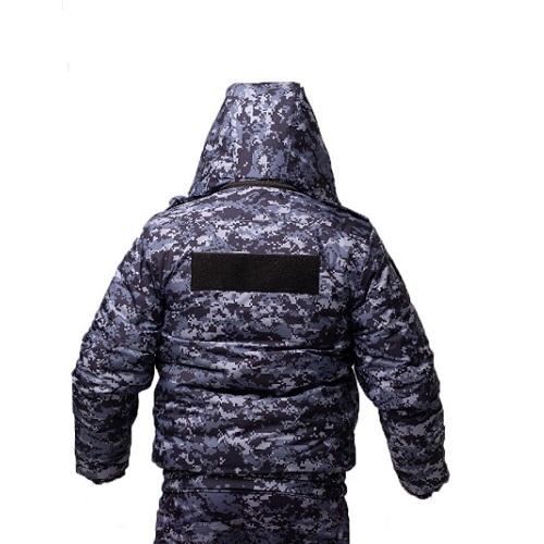 Куртка зимняя РОСГВАРДИЯ укороченная цв. синяя точка_1